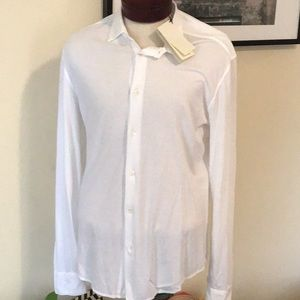 NWT Barena Venezia plain white button down shirt